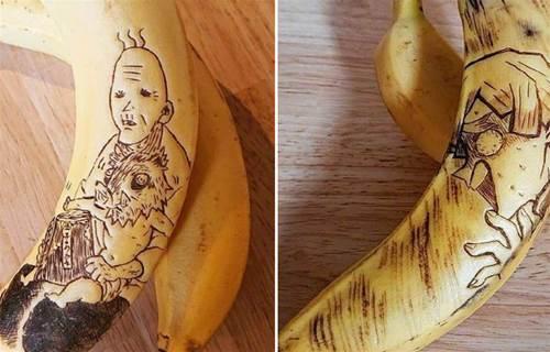 同樣是香蕉,你只會吃?大神用針「刺」出《鬼滅之刃》,網友:這誰捨得下口?